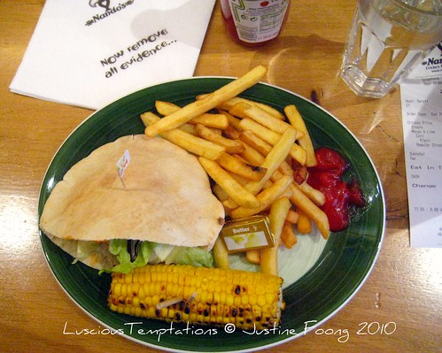Chicken Pitta with Chips and Corn on the Cob - Nando's, Holborn