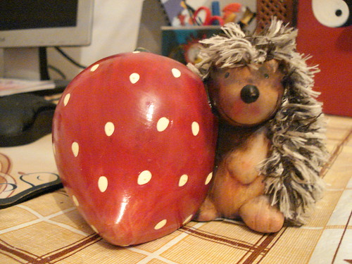strawberry and hedgehog