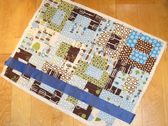 quilting in progress on smaller quilt