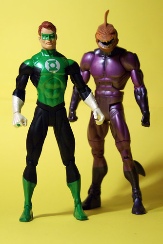 Green Lantern and Shark