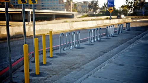 The Secret On-Street Bike Parking Corral Of Santa Monica