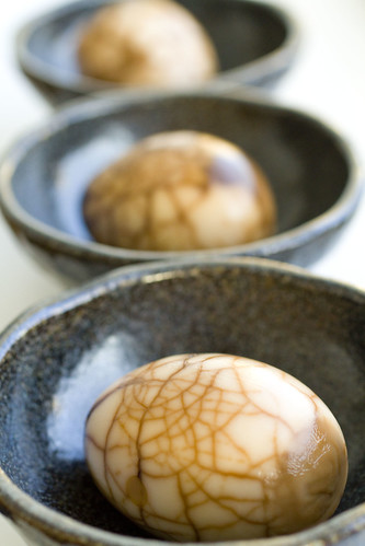 Three Tea Eggs in a row