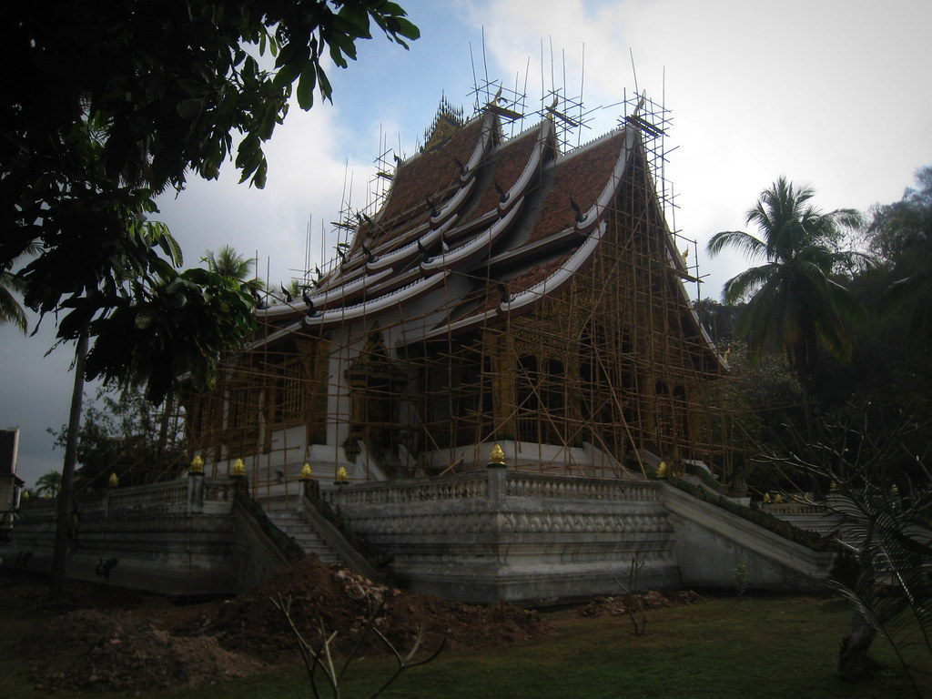 Temple en construction