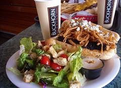photo - Buckhorn Grill (Jassy-50) Tags: california food restaurant photo salad beef sandwich grill fries emeryville buckhorn tritip buckhorngrill