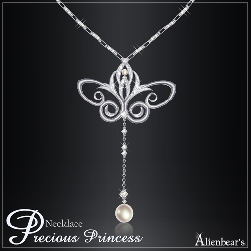Precious Princess necklace white