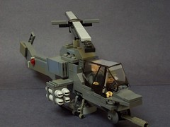 AH-1 Super Cobra (Vengeance of Lego) Tags: 2 6 3 modern soldier 1 riot cobra control lego 5 4 7 helicopter ah shield minifig cod figures artic warfare