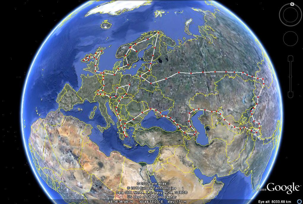 16,000 mile europe tour