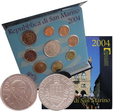 Oficiálna sada 1 cent - 5 euro San Marino 2004
