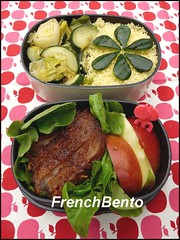 honey pork (FrenchBento) Tags: apple lunch pork honey bento lunchbox leek semolina zuchini frenchbento