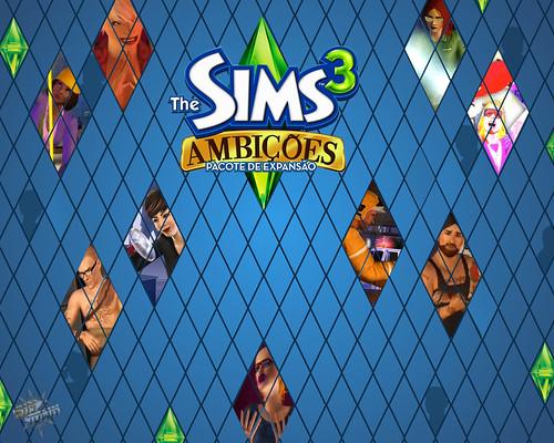 Wallpaper The Sims 3 Ambições #4 por você.