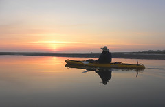 5 Watching the Sun Rise (Glass Bead Game Master) Tags: sunrise easter kayak paddle charles kayaking davidt