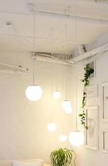 Rhetorica Frames, Lamps and Wires (TobiasMik  WhatWeDo) Tags: light white plant loft frames trumpet wires lamps interiordecoration officespace rhetorica