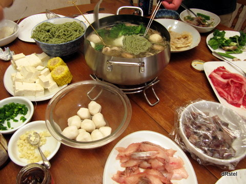 hot pot fixings, plus chasoba