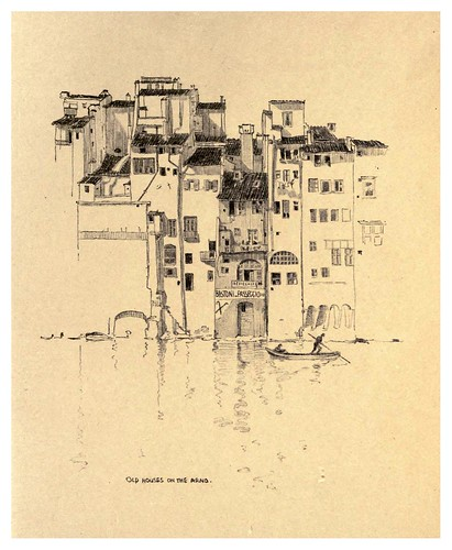 009- Casas antiguas en el rio Arno-Florence  a sketch book (1914)- Richards Fred