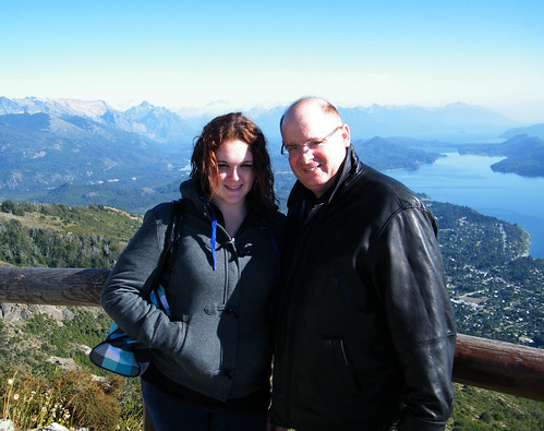 Marianna and Vince Atop Cerro Otto, Bariloche, Argentina by katiemetz, on Flickr
