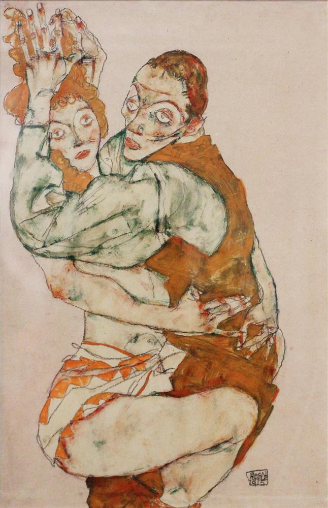 Egon Schiele, Liebesakt [Lovemaking], 1915
