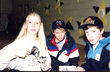 Amber and Jon (with Jim Lind) in March '91