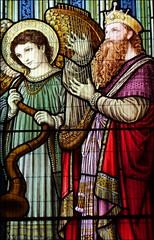 King David on harp...