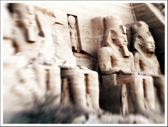 Four of the Apocalypse (part II) (Sator Arepo) Tags: leica art statue stone architecture lensbaby wonder temple ancient sitting egypt pharaoh egipto abu lensbabies ramses simbel eternal ancientegypt abusimbel digilux rameses digilux3 retofez100427