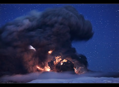 Forces of Nature - Eyjafjallajökull Eruption (orvaratli) Tags: mountain night landscape volcano lava iceland ash lightning thunder eruption magma icelandic fimmvörðuháls eyjafjallajökull eyjafjallajokull ashcloud arcticphoto örvaratli orvaratli fimmvordurhals