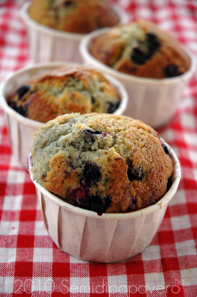 Muffin integrali ai frutti di bosco
