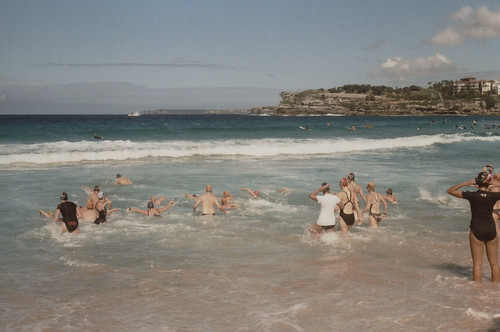 Bondi swimmers on a cool autumn Saturday (17 April 2010)