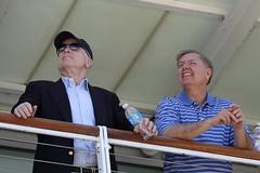 Senator John McCain & Senator Lindsey Graham watch the Blue Angels in Charleston, SC - 4/17/10 (mikelynaugh) Tags: blue sc south charleston angels carolina blueangels mccain cooperriver johnmccain lindseygraham lynaugh mikelynaugh