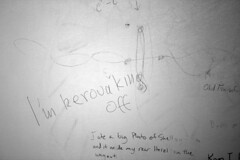 Kerouacking off to a vagina drawing (quinn.anya) Tags: graffiti drawing doodle vagina kerouac philosopher wordplay regensteinlibrary jackingoff universityofchciago blevelmensroom