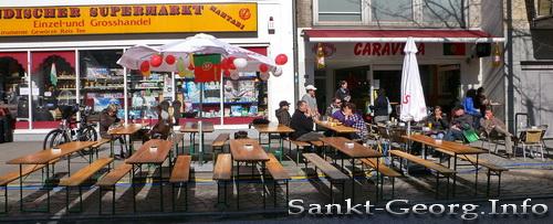 Portugiese Caravela, Lange Reihe, Hamburg St. Georg