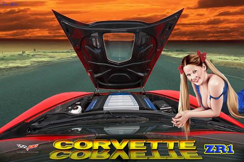 Corvette Zr1 Burnout. 2010 Corvette ZR1 burnout at