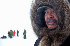 Eyes of the Arctic (davebrosha) Tags: snow man fur person eyes ranger military documentary canadian arctic stare inuit rangers nunavut patrol alert parka canadianforces higharctic wardhuntisland