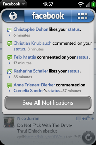 Facebook 1.2 for webOS