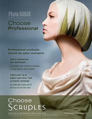Scruples (BABAK photography) Tags: beauty fashion hair photography published bob posters babak greenhair scruples avantgardehaircolor hairposters scrupleshair