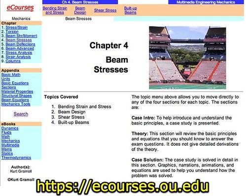 Mechanics eBook: Beam Stresses