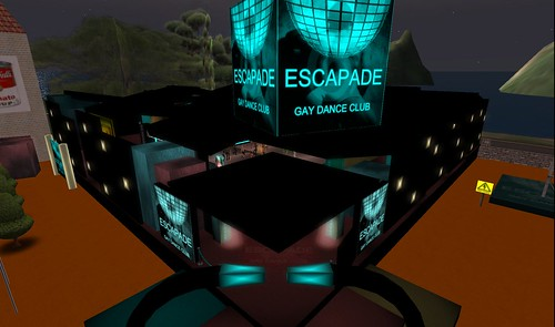 escapade gay dance club in second life