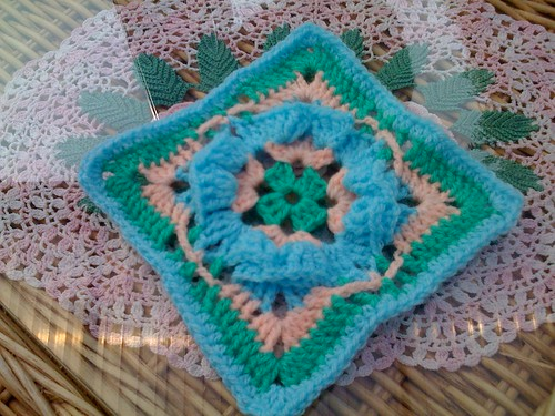 'Origami Crocheted Square' - my-pattern-blogspot.com