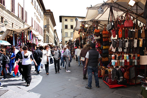 Open air market in Florence