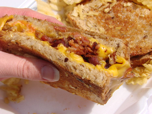 Grilled Cheese with Chorizo and Bacon from the Eggstravaganza Cart