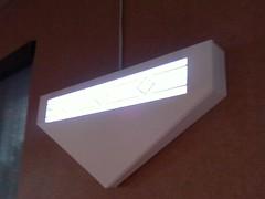 triangle fluorescent lamp in a del taco (grup) Tags: deltaco centralvalley