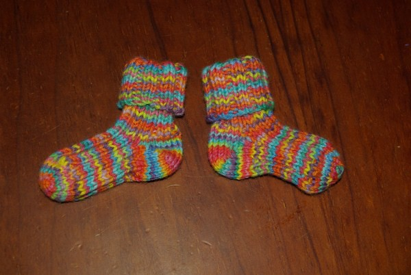Girly rainbow socks