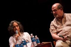 Anne Landsman & Salman Rushdie