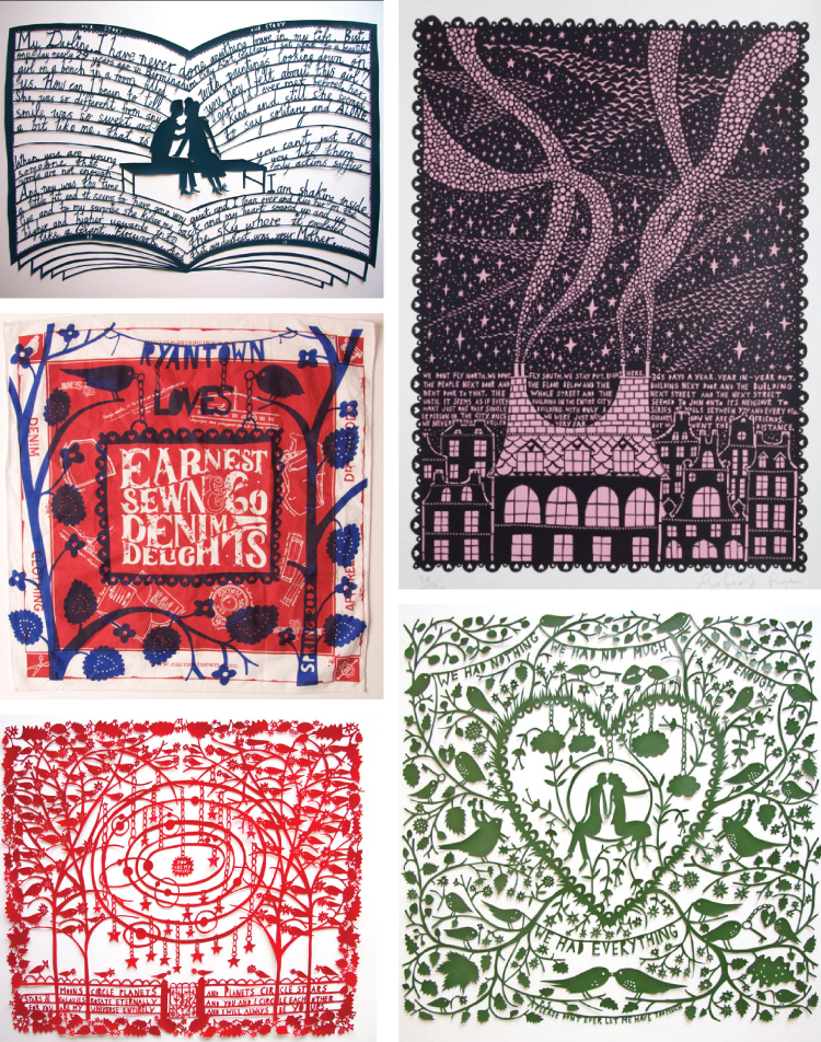 Paper Cut Outs from Rob Ryan