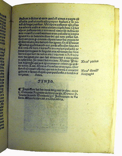 End of Main Text from 'Expositio Super Auctorem Spherae'