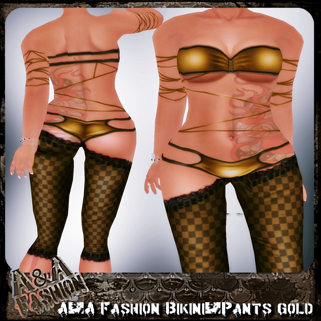 A&A Fashion bikini and pants gold