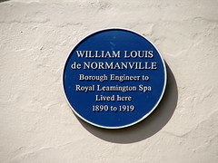 Photo of William Louis de Normanville blue plaque