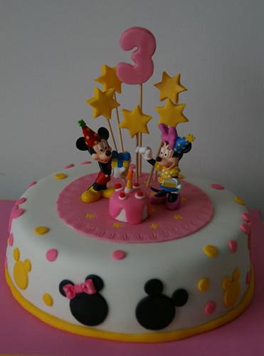 Hola  Os Dejos Unas Fotos De Mi   Ltima Tarta  Mickey Y Minnie