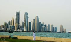 A Qatari in his new world (Kooltug) Tags: doha qatar westbay dohaskyline kooltug newdoha