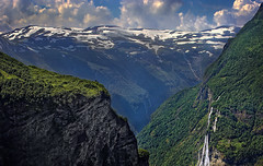 the steeper the mountain the harder the climb the better the view from the finishing line ~ Anonymous (could be me could be you:)) (Faisal!) Tags: sisters norge waterfall north places seven scandinavia fjell sju geiranger vattenfall fjäll systrar hurtigrutten