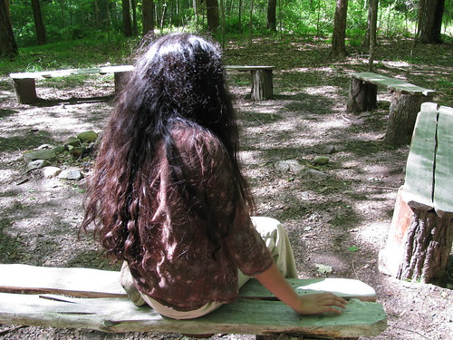 Girl in woods