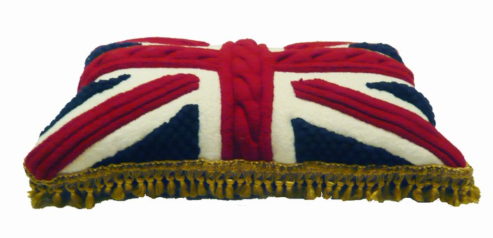 melanie porter union jack knitwear pillow cover